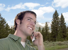 Cell Phone Conversation royalty free stock photos