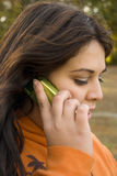 Cell phone conversation Royalty Free Stock Images