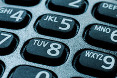 Cell phone. Dial pad close up Stock Image
