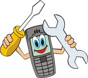 Cell phone fix stock illustration