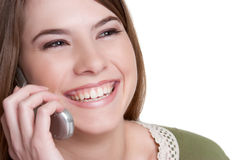 Cell Phone Girl Royalty Free Stock Photo
