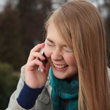 Cell Phone Girl Royalty Free Stock Photos