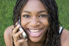 Cell Phone Girl Stock Images