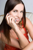 Cell Phone Girl Royalty Free Stock Photos