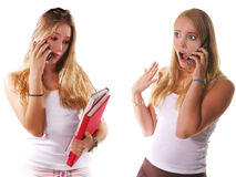 Cell Phone Gossip Royalty Free Stock Image