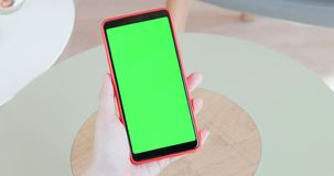 Cell phone with green screen stock photos