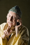 Cell Phone Guru Royalty Free Stock Photography