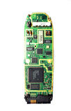 Cell phone guts. Circuit board for a cell phone royalty free stock photos