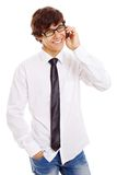 Cell phone guy Royalty Free Stock Image