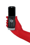 Cell phone in hand Royalty Free Stock Photos
