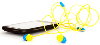Cell phone headset Stock Photos