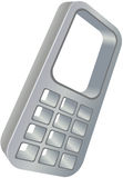 Cell phone icon Royalty Free Stock Images