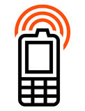 Cell phone icon Royalty Free Stock Photography