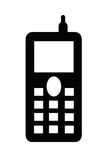 Cell phone illustrated Royalty Free Stock Photography