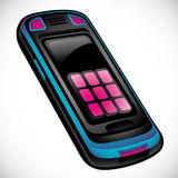 Cell phone illustration. Royalty Free Stock Photography