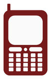 Cell Phone Illustration. 2D Cell Phone over a white background Royalty Free Stock Photos