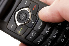 Cell Phone In A Hand Stock Image