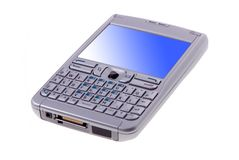 Cell Phone Isolated Stock Photo