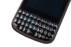 Cell phone keyboard Stock Images