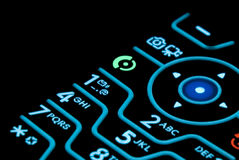 Cell Phone Keypad Stock Images