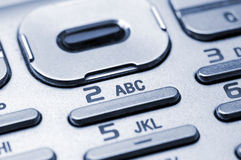 Cell phone keypad. Detail shot of a cell phone keypad Royalty Free Stock Photography