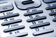 Cell phone keypad. Detail shot of a cell phone keypad Stock Image