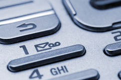 Cell phone keypad. Detail shot of a cell phone keypad Stock Photography