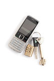 Cell phone and keys Stock Photo