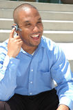 Cell Phone Laughter Royalty Free Stock Image