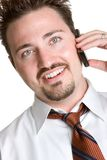 Cell Phone Man Stock Photography