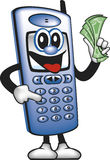 Cell Phone Man Saving Money Royalty Free Stock Image