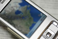 Cell phone navigator royalty free stock images