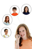 Cell Phone Network Royalty Free Stock Photo