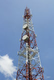 Cell phone network tower Stock Photo