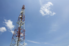 Cell phone network tower Royalty Free Stock Photo