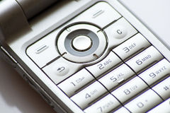 Cell phone numeric keyboard Stock Photography