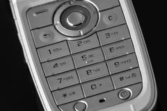 Cell phone numeric keyboard Stock Image