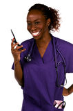 Cell Phone Nurse Royalty Free Stock Image