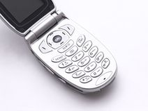 Cell phone open. To see keyboard Royalty Free Stock Photo