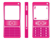 Cell phone pink Royalty Free Stock Photos