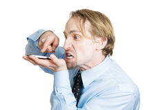 Cell phone rage Stock Photography