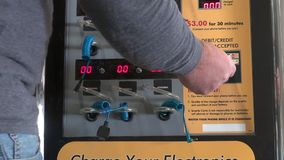 Cell Phone Recharger, Vending Machines Royalty Free Stock Images