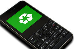 Cell Phone Recycle Royalty Free Stock Photography