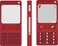 Cell phone red. Illustration of a cell phone Royalty Free Stock Images