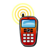 Cell Phone. Remote vector icon Royalty Free Stock Photography