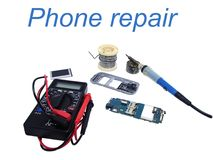 Phone repair service royalty free stock photo