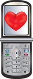 Cell Phone Sending Love Royalty Free Stock Photos