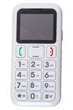 Cell phone for seniors with large buttons. Isolated on white background Royalty Free Stock Images