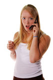 Cell Phone Shock Royalty Free Stock Photography