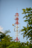 Cell phone signal station Royalty Free Stock Image